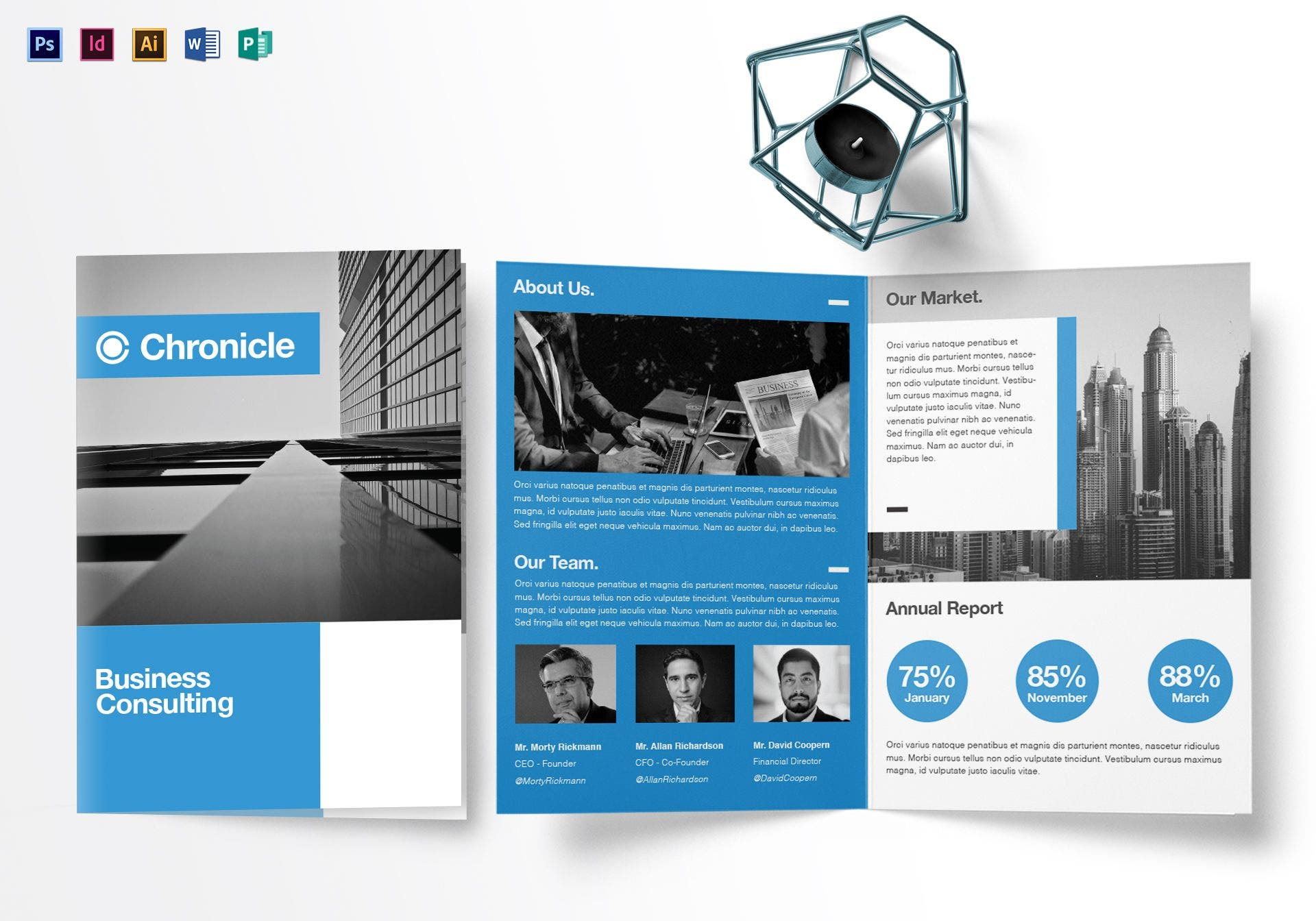 chronicle a4 bifold brochure layout