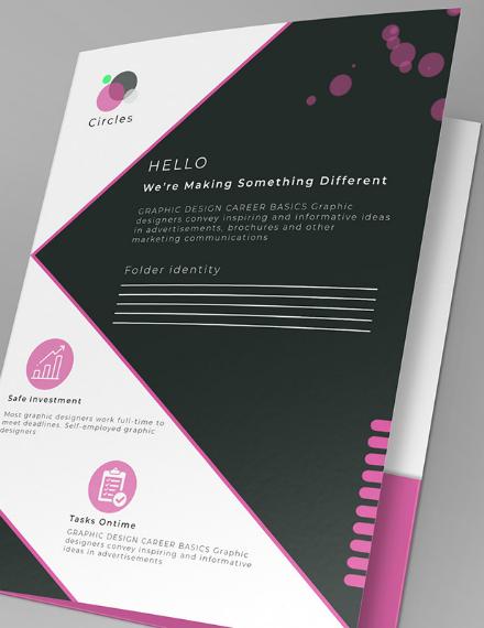circles a4 bifold brochure example