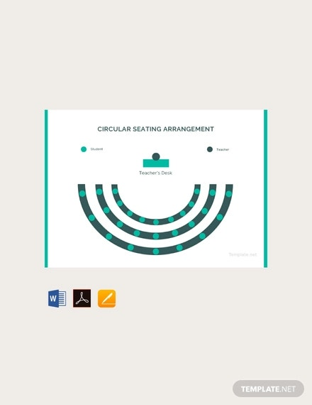circular seating arrangement classroom template