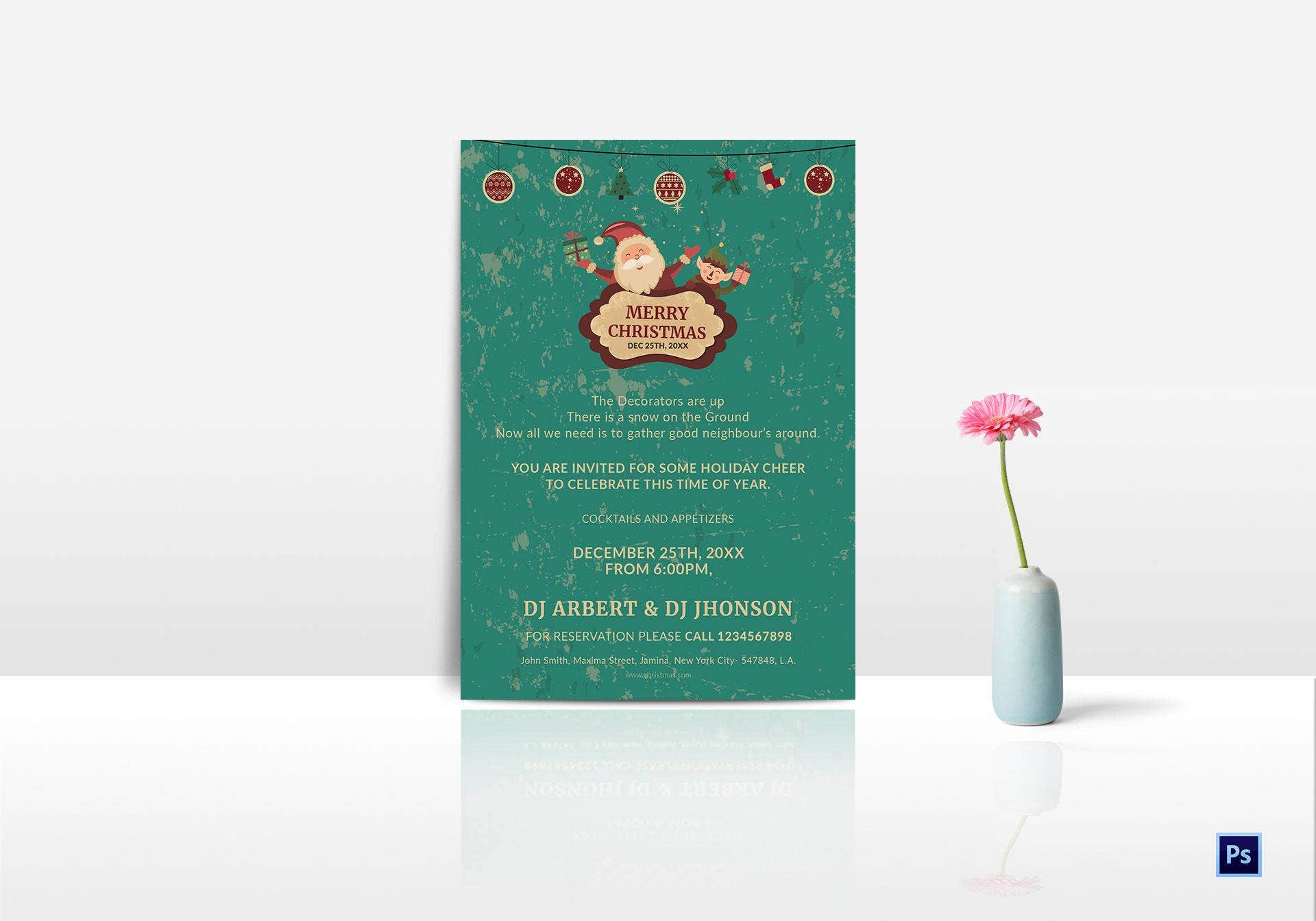 cocktail christmas party invitation