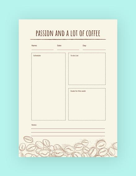 coffee journal notebook m1x 3
