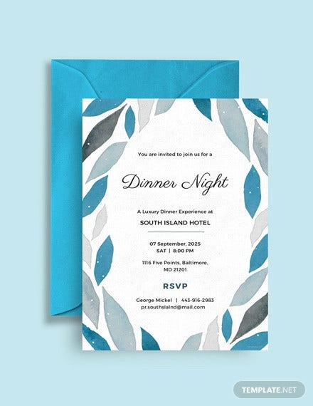 company dinner invitation