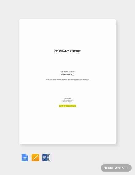 company report example