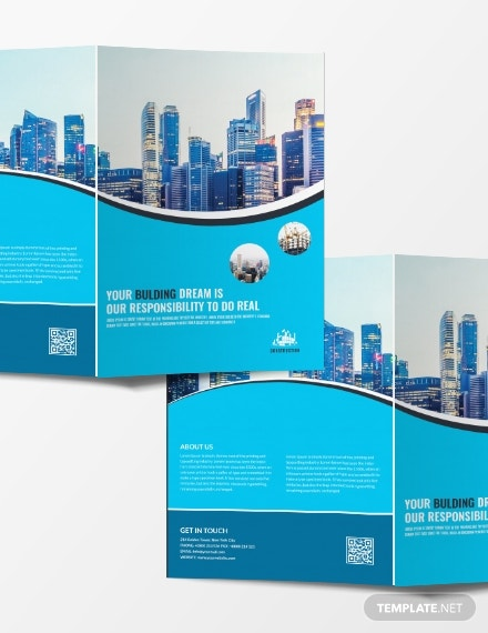 construction company bifold brochure example