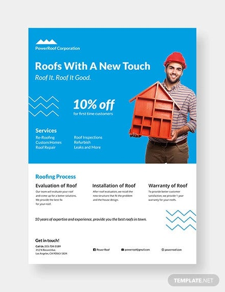 construction roofing flyer