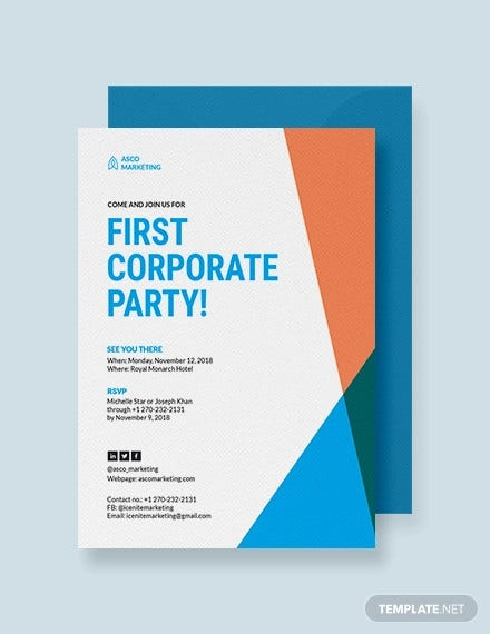 corporate party invitation template