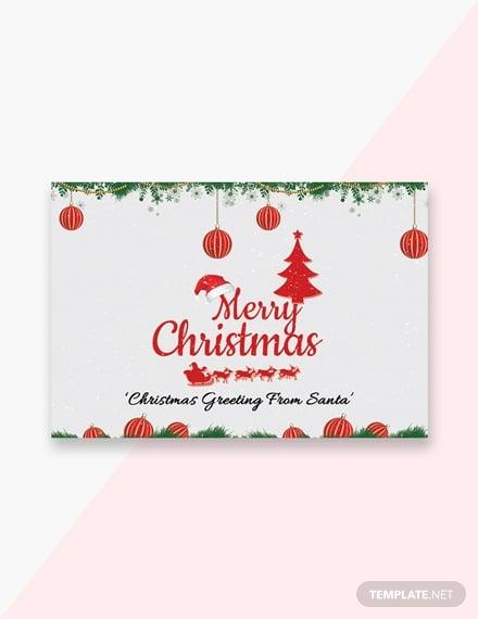 creative christmas greeting card template 1x