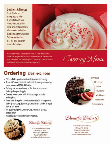 creative food catering menu example