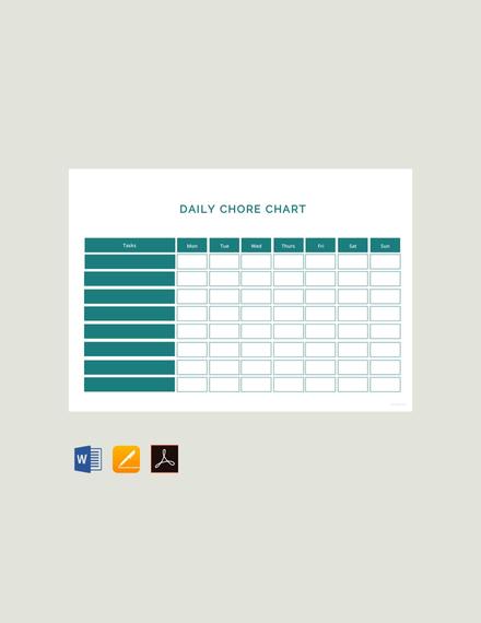 daily chore chart