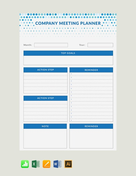 daily meeting planner
