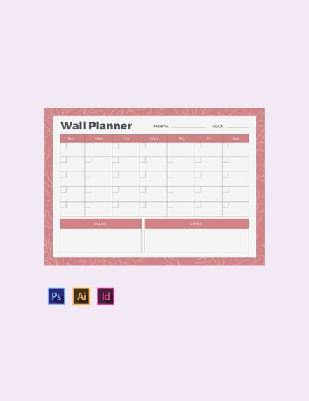 daily wall planner