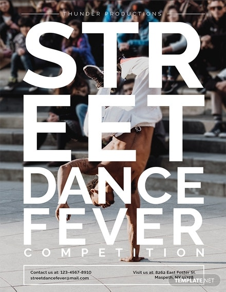 dance poster template in pages