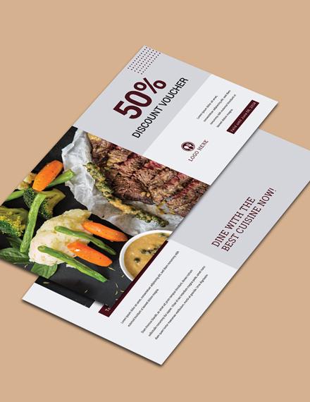 dinner discount voucher word template