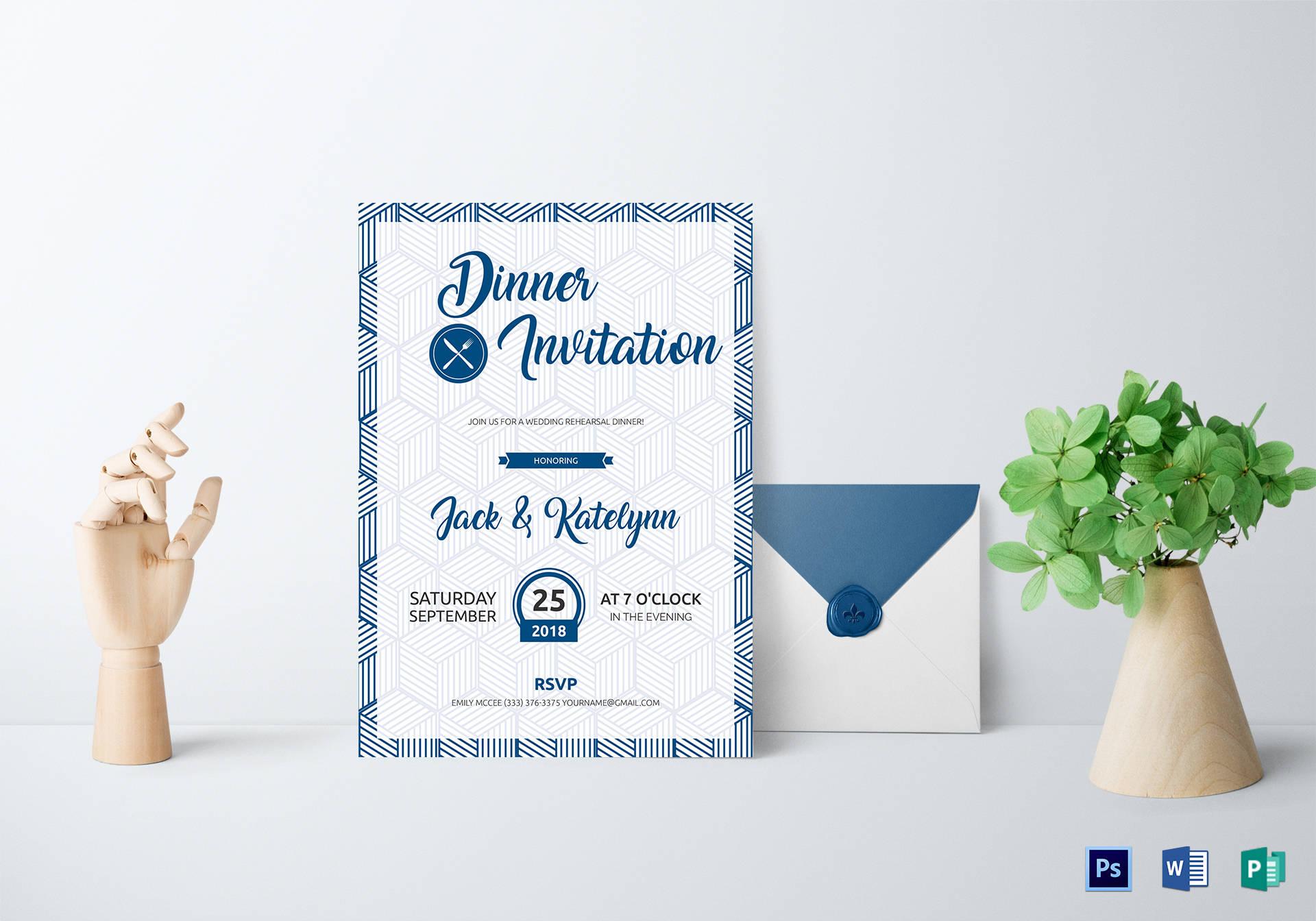 dinner party invitation design
