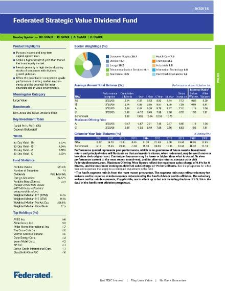 dividend fund fact sheet