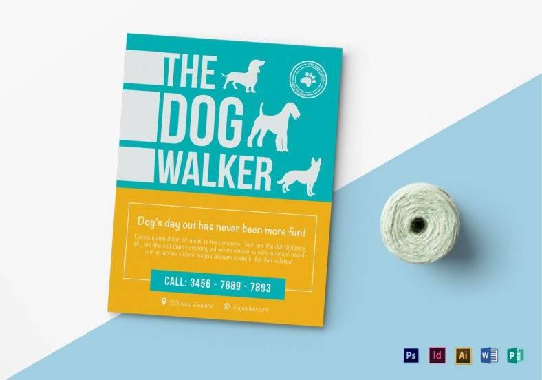 dog walker flyer template in publisher 788x552