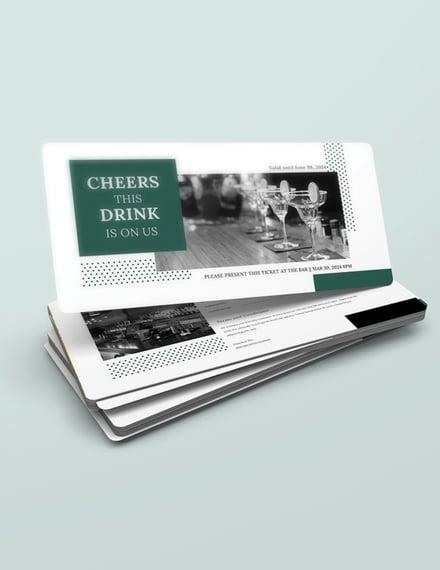 drink voucher word template