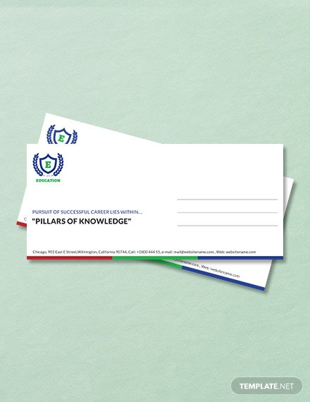 education envelope template