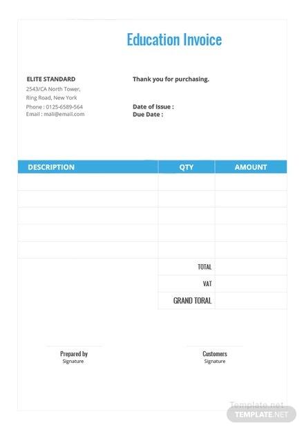 education invoice template1