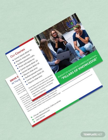 education postcard publisher template