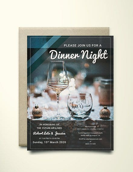 9  dinner party invitation designs  u0026 templates