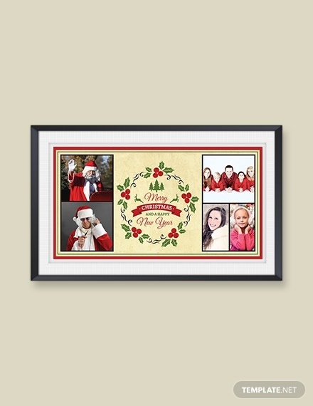elegant holidays photo card template