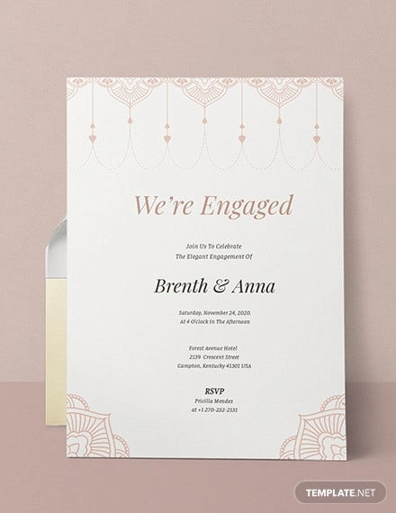 elegant invitation template