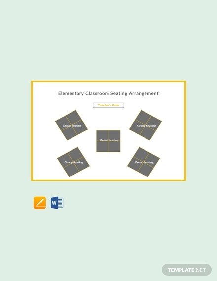 elementary classroom seating arrangements template