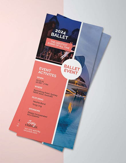 event rack card template
