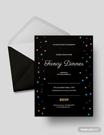 fancy dinner invitation