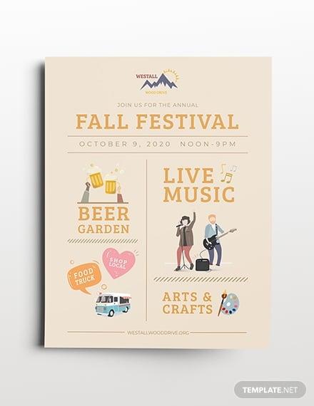 festival flyer template in publisher