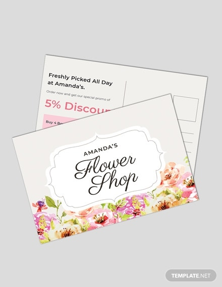 floral postcard template in publisher