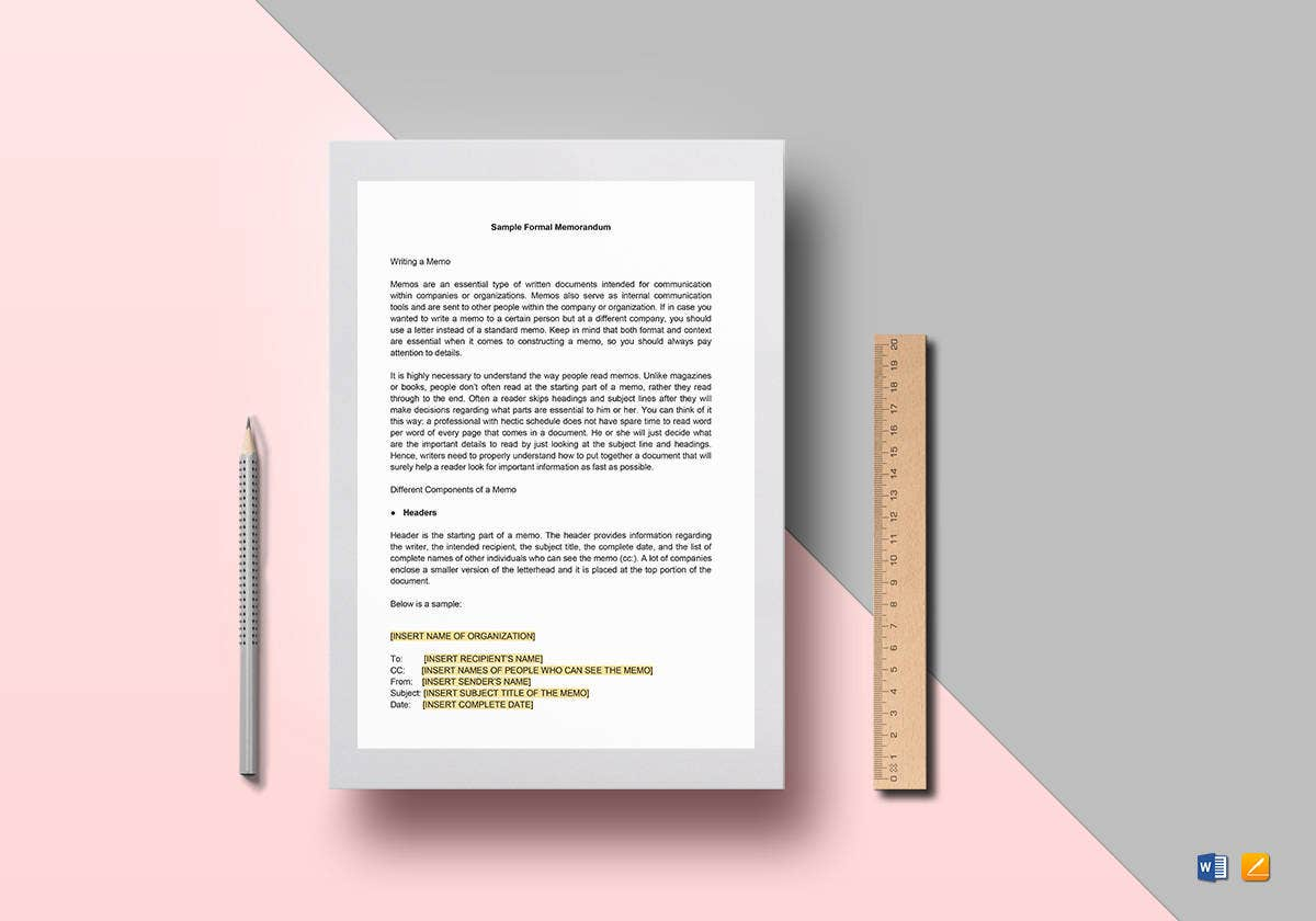 formal memorandum template