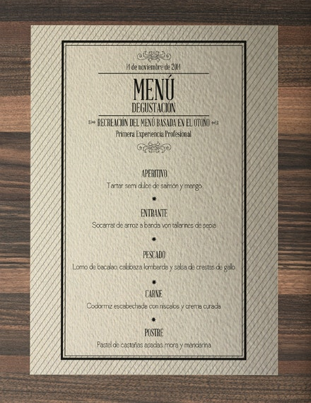 formal theme lunch menu template