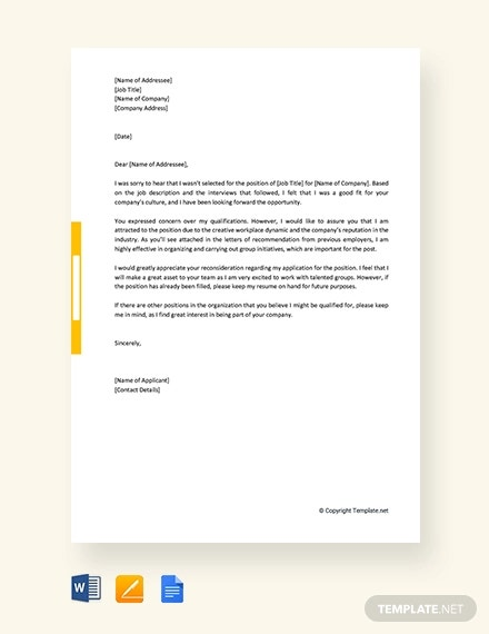 Appeal Letter 15 Free Sample Example Format Free Premium