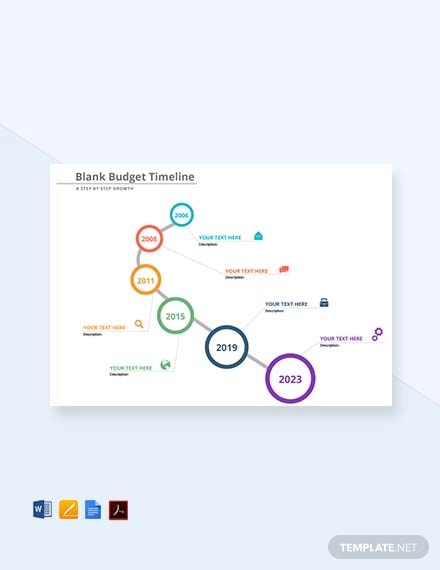 free blank budget timeline template1