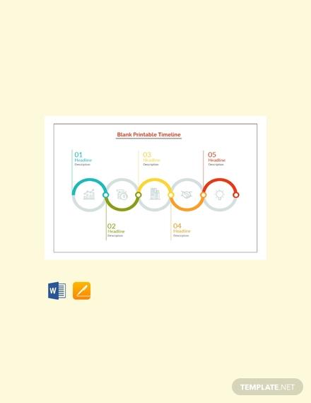 free blank printable timeline template