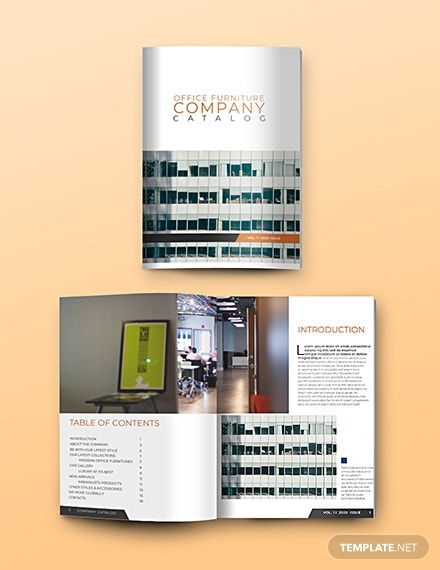 free business catalog template 1x 1
