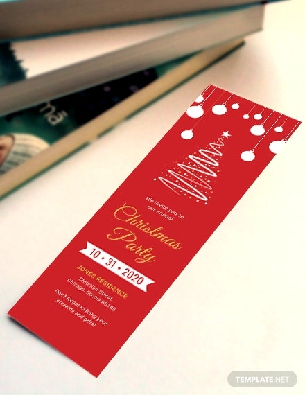 free christmas bookmark template