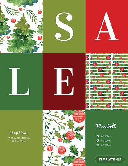 free christmas shopping sale flyer template