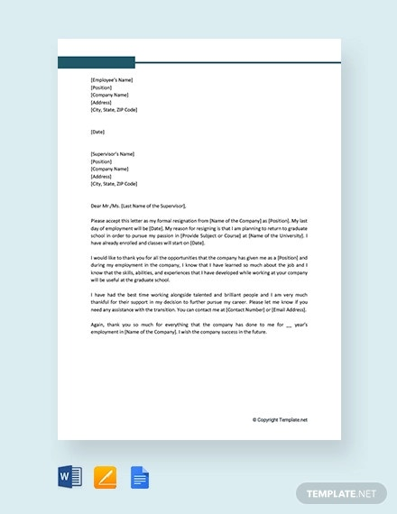18+ Employee Resignation Letter Templates - PDF, DOC | Free