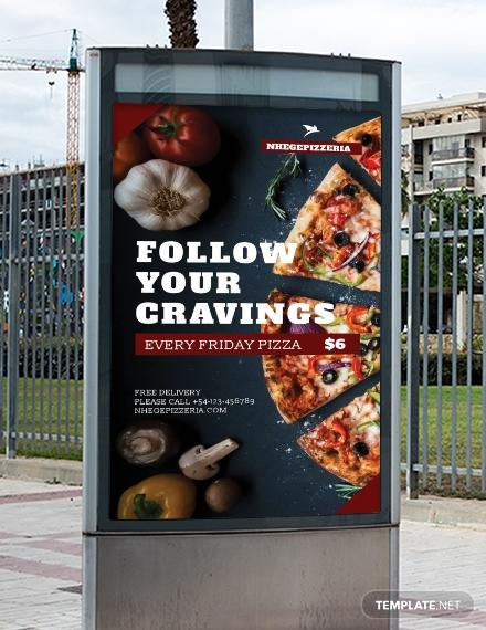 free food advertising digital signage template 4