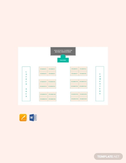 free high school classroom seating arrangements template