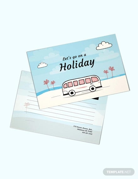 free holiday postcard template