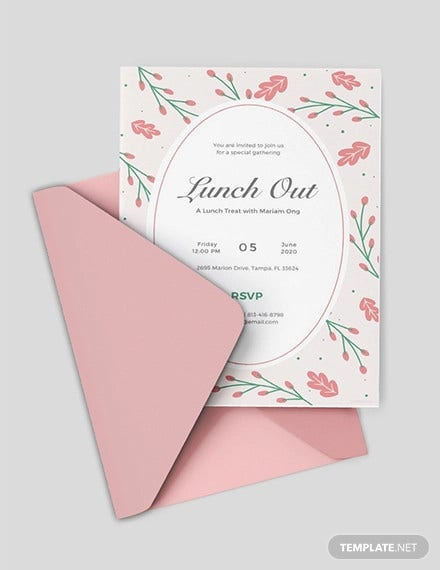 36 lunch invitation designs templates psd ai free premium