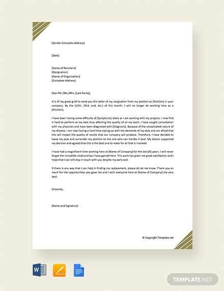 Medical Assistant Resignation Letter Samples from images.template.net