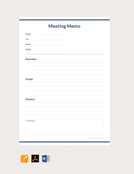 free meeting memo template