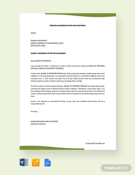 Reference Letter For An Apartment from images.template.net