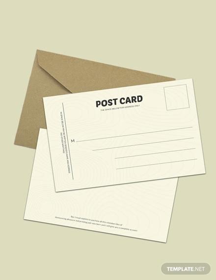 free postcard invitation template