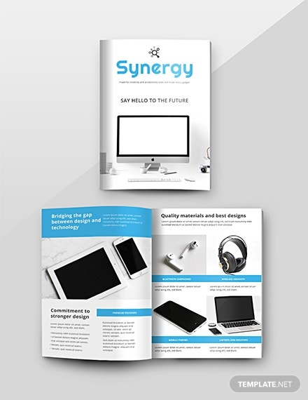 free product catalog template 1x